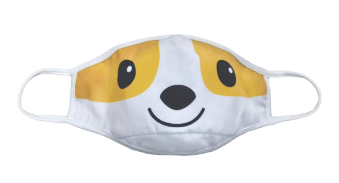 Face Mask ISCR-Kids Face Mask Reversible-Corgi