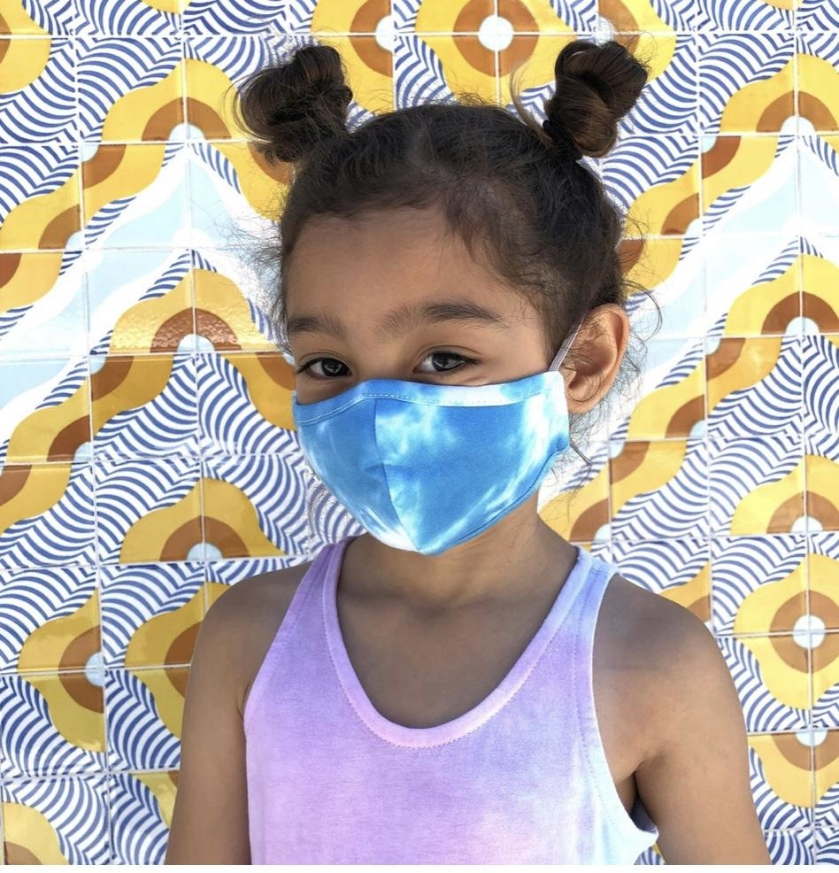Face Mask PKP Face Mask Tie Dye Blue