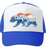Grom Squad Cali Grown Boy Royal/White Trucker Hat