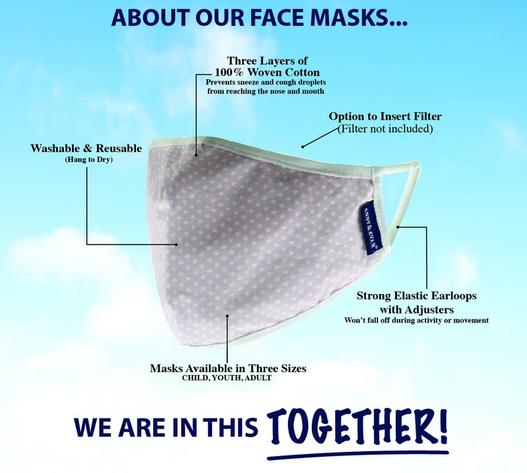 Face Mask AE-Adult Face Mask 2pack, Leopard/Beige