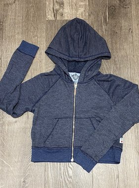 T2Love T3232H L/S CROP ZIP JKT Navy