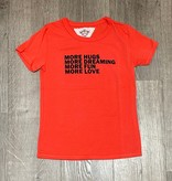 T2Love T1780S S/S Old School Tee-Coral More