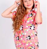 Candy Pink W20462 Panda Romper