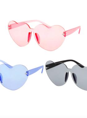 Hang Ten Rimless Heart Sunglasses