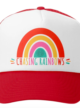 Grom Squad Chasing Rainbows Trucker Hat, Red/White