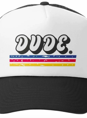 Grom Squad DUDE Trucker Hat Blk/Wht