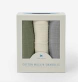 Little Unicorn Cotton Muslin Swaddle 3 Pack - Fern Set