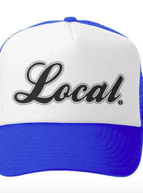 Grom Squad Local Trucker Hat, Royal/White