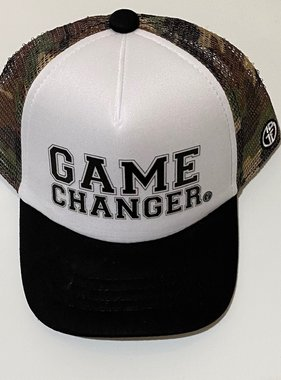 Grom Squad Game Changer Trucker Hat, Camo/White