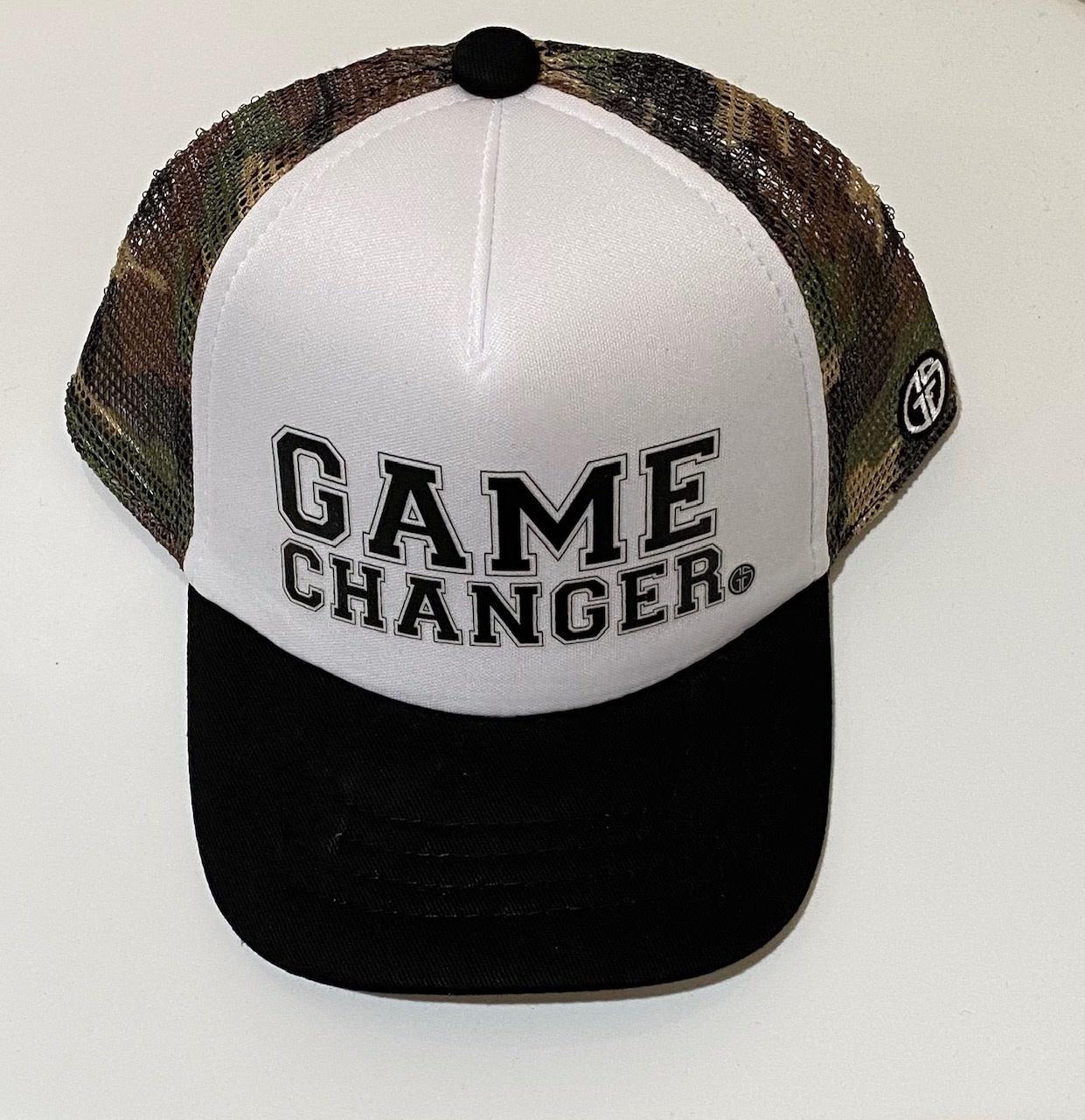 Grom Squad Game Changer Trucker Hat, Camo/White