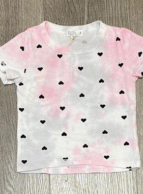 Cozii S/S Tee Tie Dye Hearts, Pink