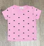 Cozii S/S Tee Black Hearts, Pink