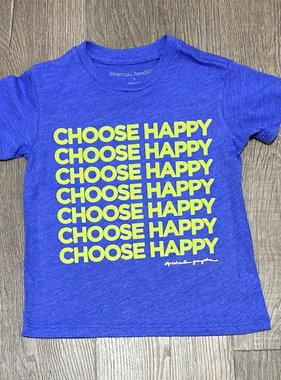 Spiritual Gangster Happy Girls Tee-Bluebell