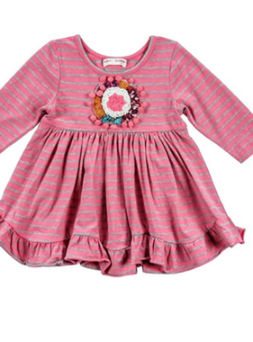 Mimi & Maggie 80121 Kayla Stripe Knit Dress Rose