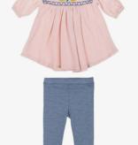 Mimi & Maggie 80254-MLT Sweet Flower Dress/Legging Set, Multi