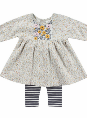 Mimi & Maggie 80145-GRY Alicia Dress/Leggings Set, Grey