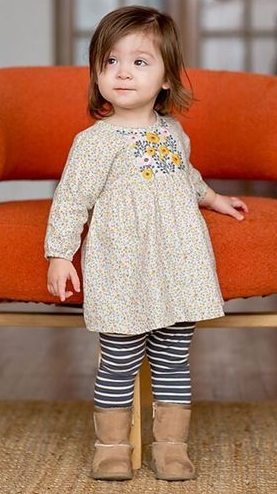 Mimi & Maggie 80145-GRY Alicia Dress/Leggings Set, Grey