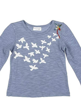 Mimi & Maggie 6728 Flock Of Birds Tee Denim