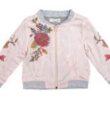 Mimi & Maggie Silky Flowers Baby Jacket Pink