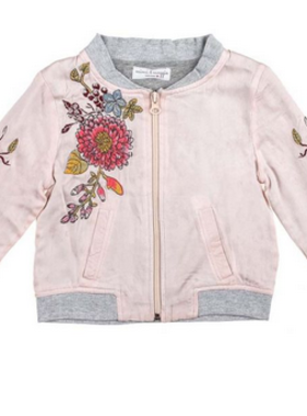Mimi & Maggie Silky Flowers Baby Jacket Pink