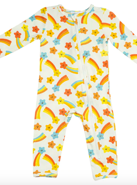 Angel Dear 126RF0SSB Shooting Stars Romper Orange