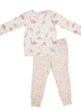 Angel Dear 171F0DIP Floral Dinos Pink Lounge Wear Set