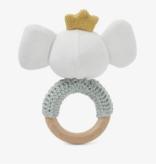 Elegant Baby 25413 Sage Elephant Ring Rattle