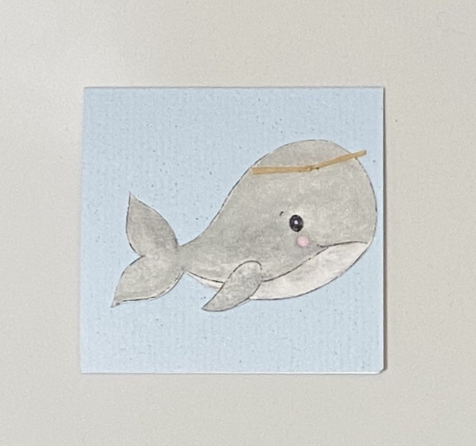 Greeting Cards Enclosure Card - Blue Whale