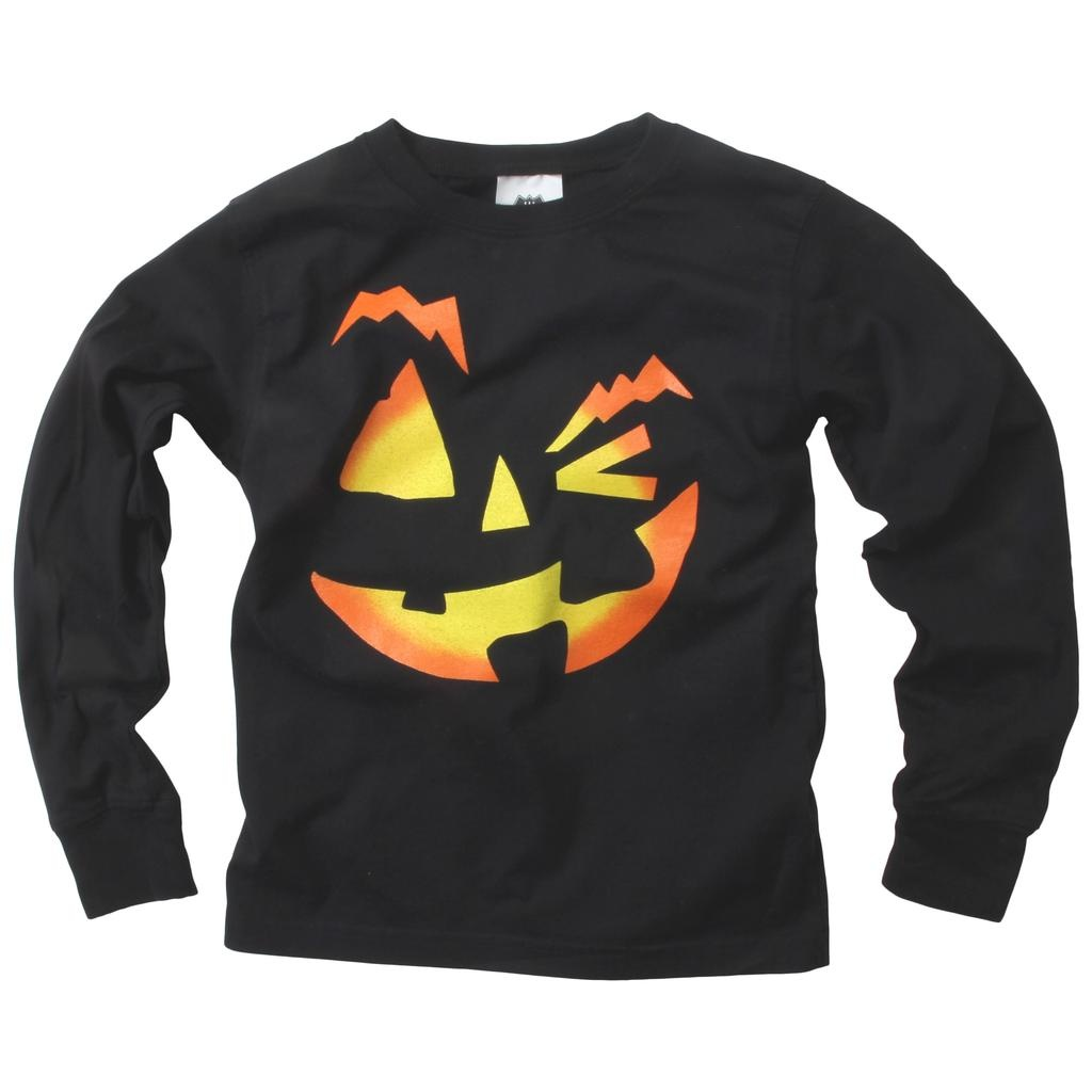 Wes And Willy 7614 Jack O Lantern Face LST Black
