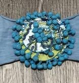 Mimi & Maggie 9204-BLUE Tribes Headband, Blue