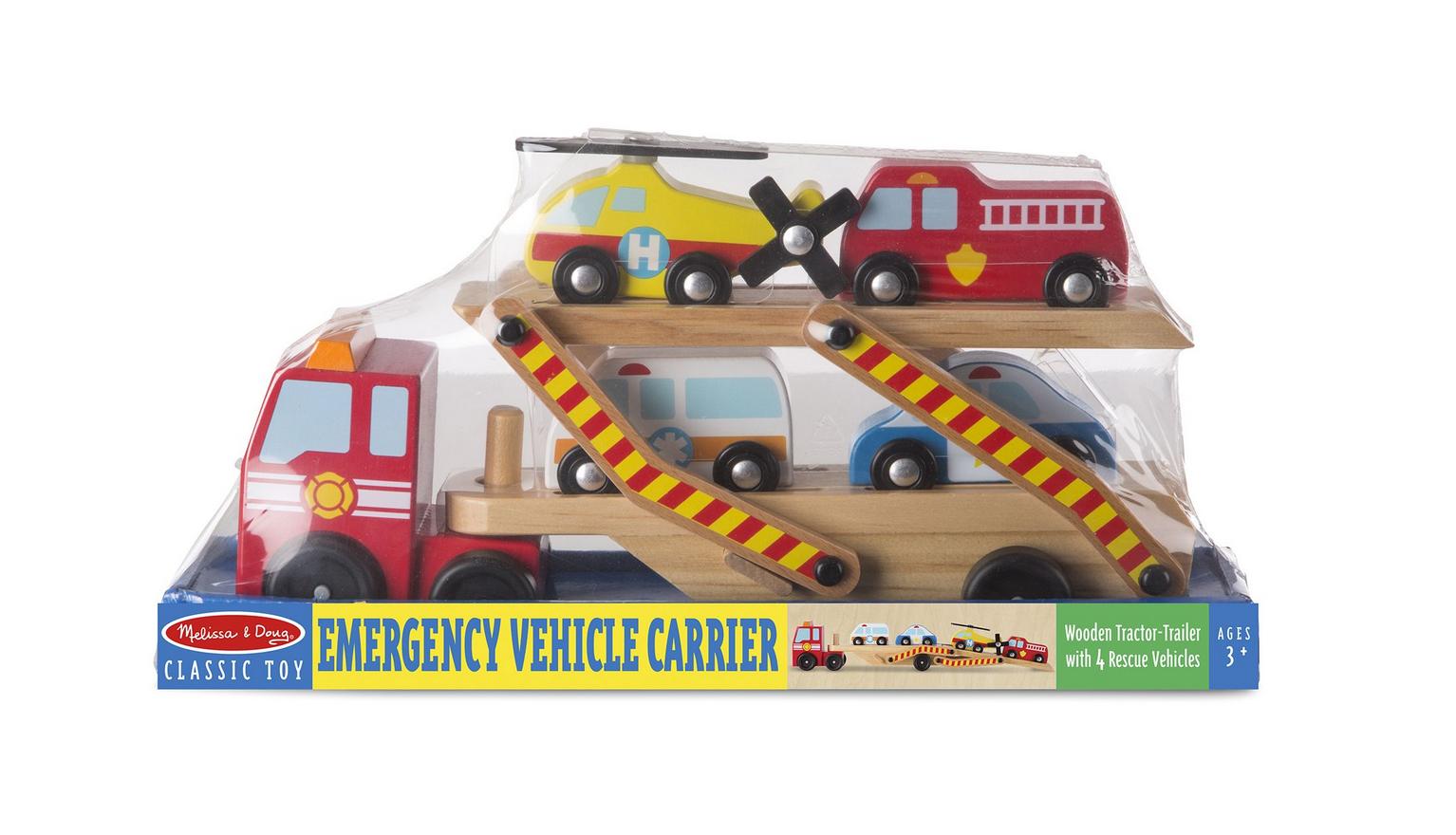 Melissa & Doug Emergency Vehicle Carrier 4610