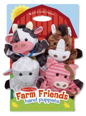 Melissa & Doug Farm Friends Hand Puppets 9080