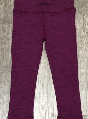 Mimi & Maggie 1367-PLM Yoga Salt Pepper Legging, Plum