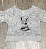 Mimi & Maggie 6680-GRY Pirate Bunny Sweatshirt, Grey
