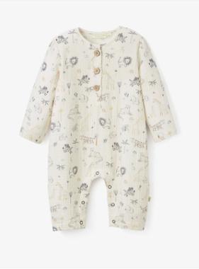 Elegant Baby 93027 Safari Print Jumpsuit