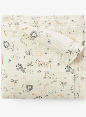Elegant Baby 89482 Safari Print Furback Blanket