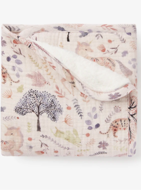 Elegant Baby 89483 Floral Print Furback Blanket