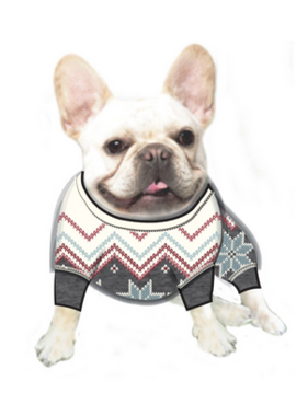 RVFFDGPJ Dog Fair Isle Sweater