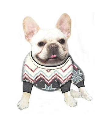 Pj Salvage RVFFDGPJ Dog Fair Isle Sweater