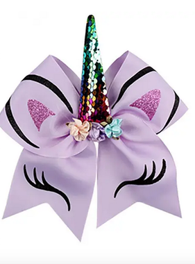 Lily & Momo Unicorn Bow Ponytail Holder Purple