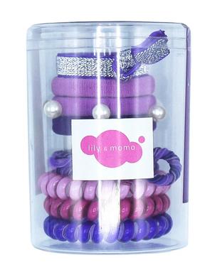 Lily & Momo Hair Ties Color Pop Set Purple