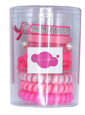 Lily & Momo Hair Ties Color Pop Set Pink