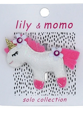 Lily & Momo Come Fly with Me Unicorn Hair Clip Moondust Sparkle
