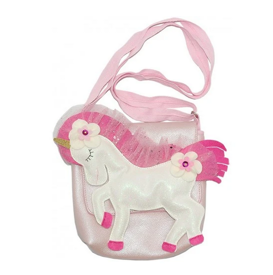 Lily & Momo Come Fly With Me Unicorn Bag-Moondust sparkle