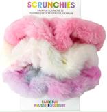 Iscream 880-124 Faux Fur Scrunchie Set