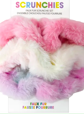 Iscream 880-124 Faux Fur Scrunchie Set