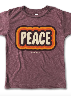 Rivet Apparel Peace Tee, Purple