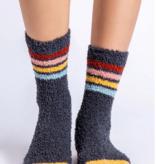 Fun Socks Charcoal Stripe