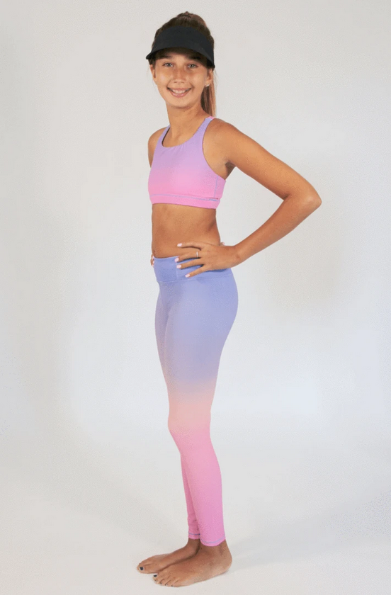 Candy Pink W20603 Ombre Legging Lilac/Pink