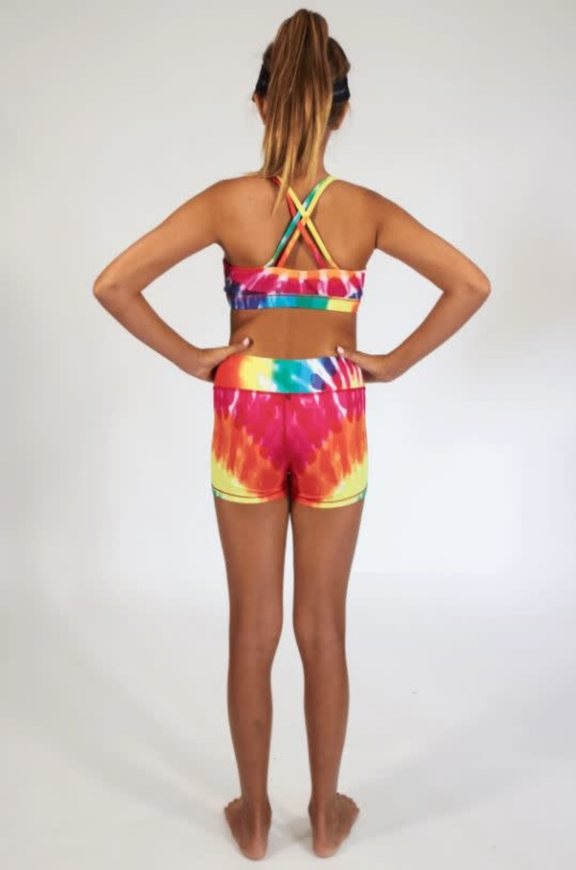 Candy Pink W20622 Rainbow Sport Short, Multi